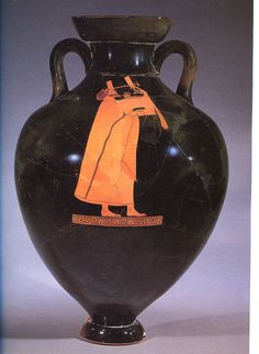 greek terracota amphora black figure painting The amasis painter is known for his innovative painting style, which includes extensive use of pattern and color both sides of this amphora depict the wine god dionysos, identifiable by his drinking horn and ivy crown, flanked by a group of hunters with their dogs.