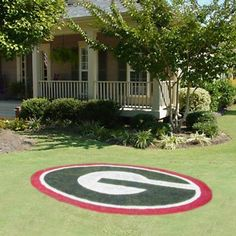 University of Georgia Bulldogs Logo Stencil. I want to do that to my yard...If only my dad would let me