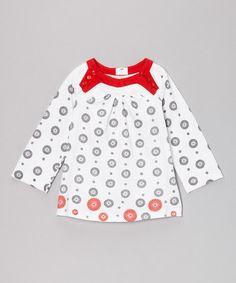 Take a look at this Red & Black Bloom Organic Top - Infant, Toddler & Girls by The Green Creation on #zulily today!