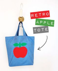 This easy tote bag pattern is the perfect bag for teachers (or anyone who has to cart around tons of papers and books).