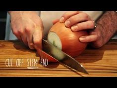 From soups to sauces to braises to omelettes to stews, you need chopped onions. Watch this video to find out how to get this task done neatly and efficiently. Joy Of Cooking, Cooking Tips, Mario Batali, Tummy Yummy, Iron Chef, No Cook Meals, Food Hacks, Food To Make, Favorite Recipes