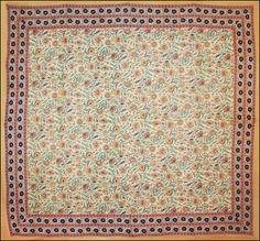 Floral Pattern - Tan - Tapestry
