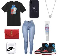 Summer Swag Outfits, Boujee Outfits, Casual School Outfits, Swag Outfits For Girls, Jordan Outfits, Teenage Girl Outfits, Cute Swag Outfits, Cute Comfy Outfits, Dope Outfits