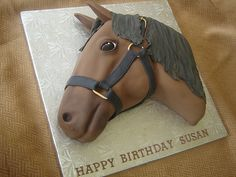 Whether you're having a cowboy party, a pink cowgirl party, Kentucky derby party, Western party look to us for birthday cake and ice cream ideas for your pony party with cowboy party cakes, horse shoe and horse head cakes. Beautiful Cakes, Amazing Cakes, Crazy Birthday Cakes, Western Cakes, Horse Birthday, Cowgirl Birthday, 8th Birthday, Birthday Ideas, Horse Cake