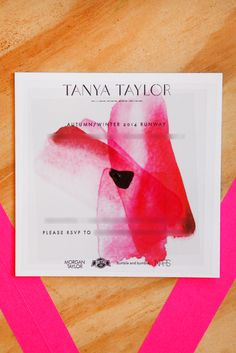 The BEST NY Fashion Week Invites #refinery29  http://www.refinery29.com/fashion-week-invites#slide1  The perfect shade of blush on Tanya Taylor.