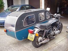 SidecaR-V - A Brilliant idea, you could bloody sleep in that... I like it - I 'bags' the inside not the outside seat lol  -  To connect with us, and our community of people from Australia and around the world, learning how to live large in small places, visit us at www.Facebook.com/TinyHousesAustralia or at www.TinyHousesAustralia.com