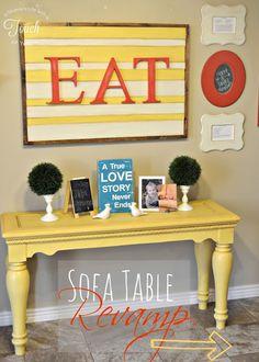 Sofa Table Revamp {tutorial}