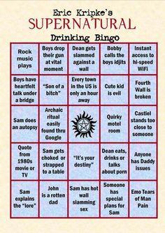 Supernatural Drinking Game - We're playing this I hope you know @ Ambur Hrooshkin