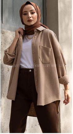 Modest Fashion Hijab, Modern Hijab Fashion, Street Hijab Fashion, Modesty Fashion, Hijab Fashion Inspiration, Muslim Fashion, Fashion Outfits, Modele Hijab, Hijab Trends