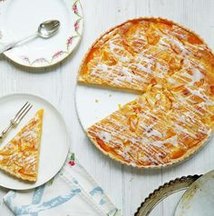 Apricot Frangipane Tart ~ tender fruit & an almond frangipane filling in crisp pastry   recipe from book 'Mary Berry's Absolute Favourites'   via The Telegraph