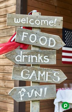 Don't let your party pull you in too many directions. Let Aprons Event Planning do all the work so you can have all the fun. I love rustic and fun signs for everyday and parties. This sign is the perfect compliment to the perfect summer BBQ. Beach Bbq, Summer Barbecue, Grill Party, Bbq Party, Bbq Menu, Birthday Bbq, Housewarming Party, Backyard Bbq, Decoration