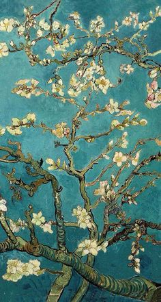 Blossoming Almond Tree, famous post impressionism fine art oil painting by…