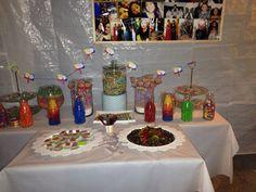 Rainbow party table