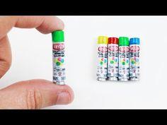 DIY   Miniature Doll Spray Can - Easy Doll Crafts - YouTube Miniature  Crafts, Miniature 98ece1c5a7