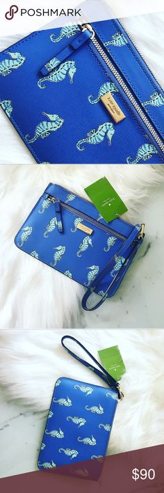 NWT Kate Spade Clutch Seahorse Super cute and in brand new condition with tags and authentication papers. kate spade Bags Clutches & Wristlets