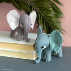 Felt DIY Elephants