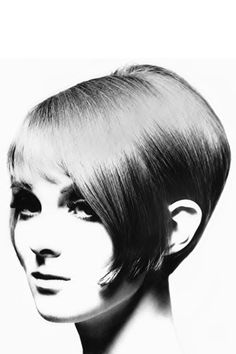 "Grace Coddington, early 1960's modelling Vidal Sassoon's ""5-point"" haircut. RIP Vidal."