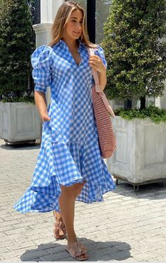 Cotton Dresses, Casual Looks, Gingham, Your Style, Wrap Dress, Glamour, Shirt Dress, Summer Dresses, Clothes For Women
