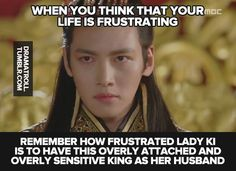 I love him. I would definitely put up with his crazy. Seriously, I'll take him if she doesn't want him..... Empress Ki kdrama.