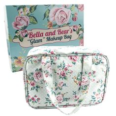 Bella and Bear Toiletry Bag for Women - A Hanging Travel Bag Ideal for Makeup and Toiletries With Carrying Handle and Beautiful Stylish Design Best Makeup Brushes, Makeup Brush Set, Best Makeup Products, Bear Makeup, Cute Makeup Bags, Palette, Beauty Case, Wallet Pattern, Travel Makeup