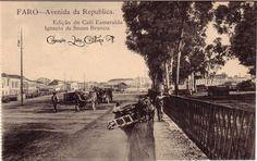 Faro : Avenida da Republica Algarve, Portugal, Nostalgia, Old Photos, Poster, History, Outdoor, Vintage, Lighthouse