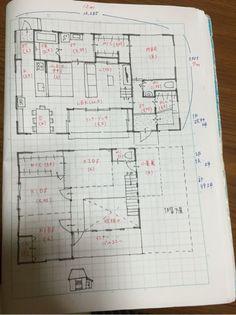 子供3人、開放的なLDKの間取り Loft Plan, Japanese Modern, Japanese Style, Kids C, Illustration Sketches, House Layouts, House Plans, Presentation, Floor Plans
