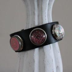 Armband zwart maat M, compleet