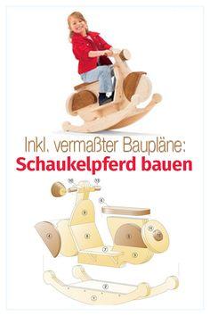 Build rocking horse yourself - Sisty's Wooden Crafts Wooden Ride On Toys, Wooden Baby Toys, Rocking Horse Plans, Wood Toys Plans, Woodworking Toys, Baby Zimmer, Wooden Crafts, Diy Toys, Vespa