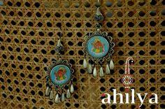 Hand Painted Ganesha Earrings