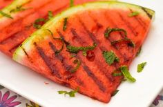Spicy Grilled Watermelon — Punchfork | The watermelon came from ...