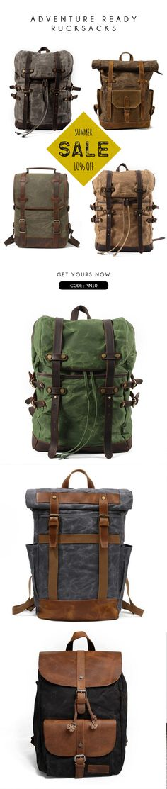 """waxed canvas bag,hipster backpack,backpacks,Men's backpack,canvas backpack,gray backpack,travel backpack,men's canvas bag,men's bag,new york,mens rucksack,leather backpack,travel bag,waxed rucksack,canvas,laptop bag,waterproof backpack,water resistant bag,grey,brown,green,black,rugged,13""""laptop backpack,15""""backpack,durable,vintage,hipster,made in usa,made in america,cool,2016,stylish,cotton,leather,cow hide,copper rivets,PNW,pacific northwest,travel,hiking backpack,outdoor"""