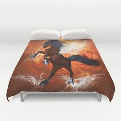 Beautiful #horse #Duvet Cover by nicky2342 - $99.00