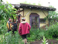 tiny cob house + garden :-)