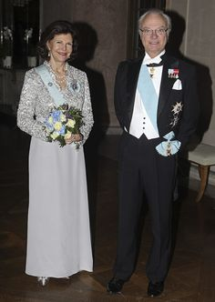 King Carl Gustav and Queen Silvia of Sweden 2/1/13