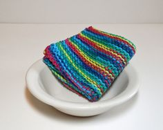 This hand knit cotton dishcloth/ washcloth is made from 100% cotton yarn. It is soft enough to wash your face yet durable enough to wash your