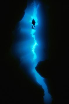 Nope. No way could I ever be brave enough to go cave diving. Beautiful photo though.
