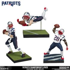 Sports 754: Mcfarlane Nfl New England Patriots Championship 3 Pack Sb 51 - <In-Stock!> -> BUY IT NOW ONLY: $49.95 on eBay!