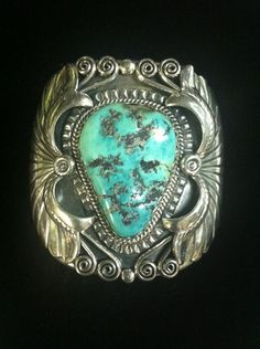 Sterling Silver & Turquoise Cuff Navajo Bracelet