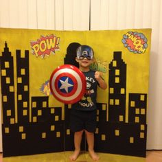 Superhero Photo Booth Perfect for Super Heroes Party @2 Cookin' Mamas