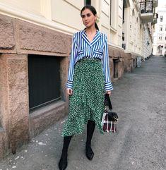 Ganni street style | Darja Barannik | Capella Mesh Skirt
