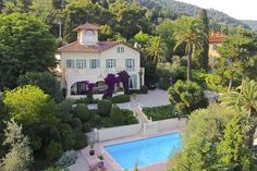 """In the early 20th century, this villa was the Riviera home of American-born impressionist painter Mary Cassatt. It was later lived in by renowned French composer Germaine Tailleferre. """"The house has a bit of a feminist history,"""" says owner Rosemary Ireland, who lives here with her husband, Patrick Ireland."""