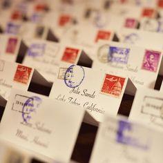 travel themed wedding ideas | Travel-Themed Escort Cards | Wedding Ideas