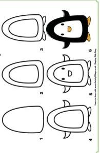 learn to draw a penguin