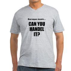 Baroque music... Handel it? Men's V-Neck T-Shirt