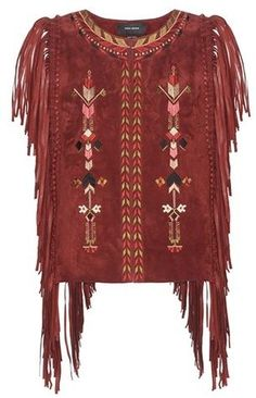 Isabel Marant Maxime Embroidered Suede Waistcoat
