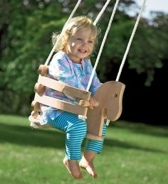 Wooden Horse Swing For Toddlers