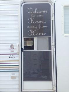 Screen door stencil & Camper trailer screen door ♥ I know this door is for a camper but ...