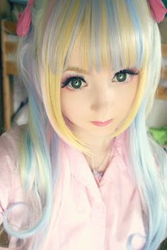 Venus Angelic-rainbow hair 실시간카지노 pink14.com 온라인카지노