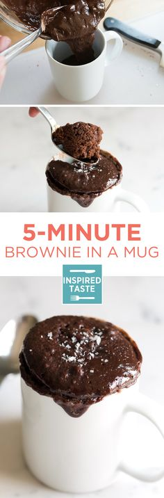 With just a few ingredients and 5 minutes, you can be in brownie heaven. Here's our favorite brownie in a mug recipe.