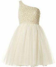 ALICE + OLIVIA Corinne Embellished One Shoulder Party Dress